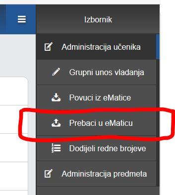 prebaciueMaticu