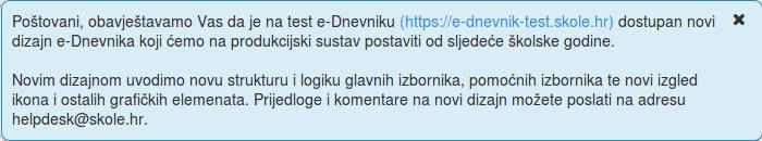 Novi dizajn e-Dnevnika